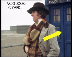 dr who sun makers continuity error 1