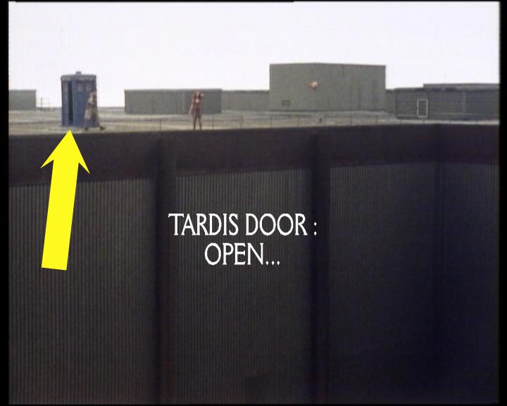 dr who sun makers continuity error 2 & Tardis |