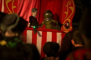 Picture shows: A Doctor puppet show.