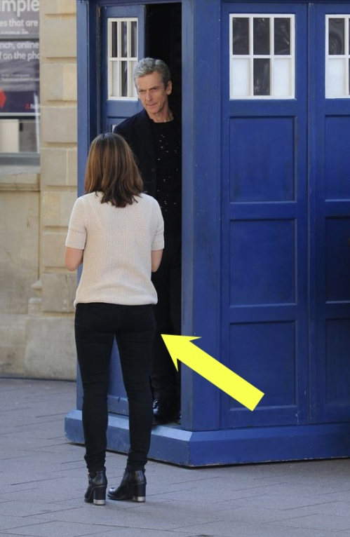 doctor who jenna coleman arse