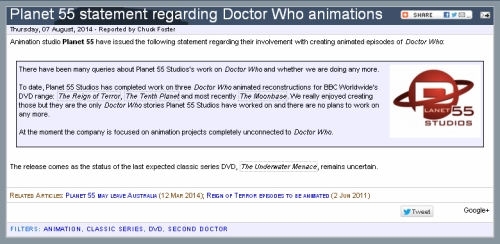 planet 55 doctor who animation