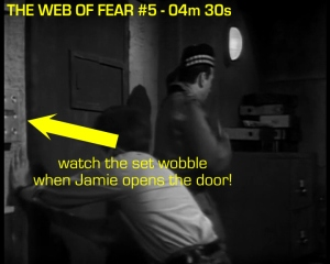 web of fear blooper 09