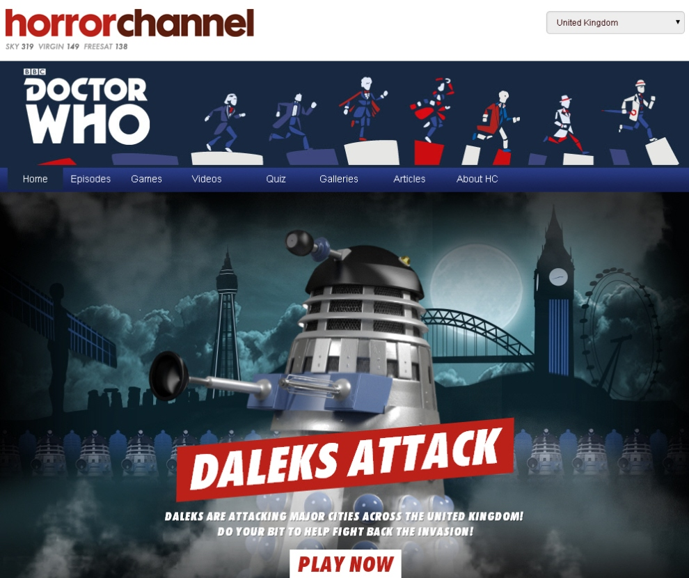 Horror Channel Dalek Game