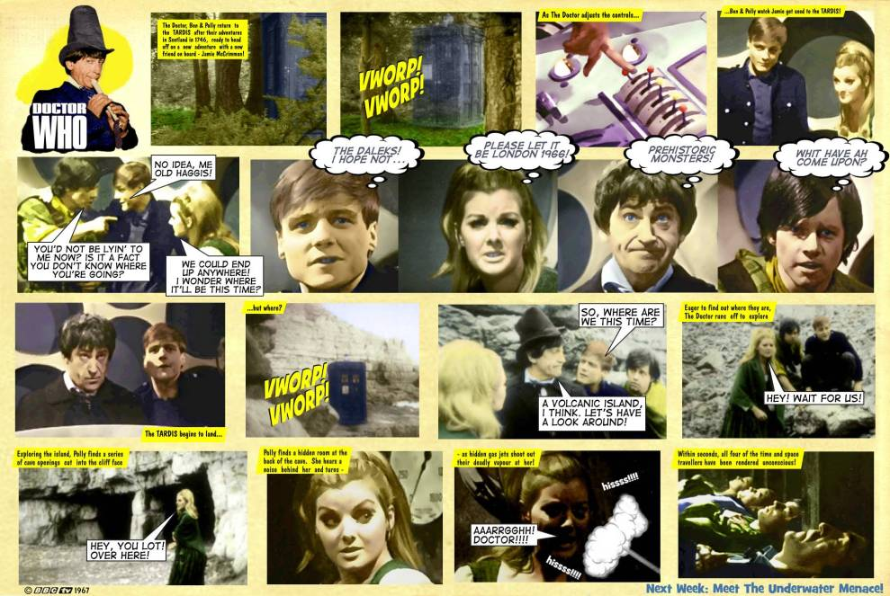 Dr Who Underwater Menace TV Comic 1