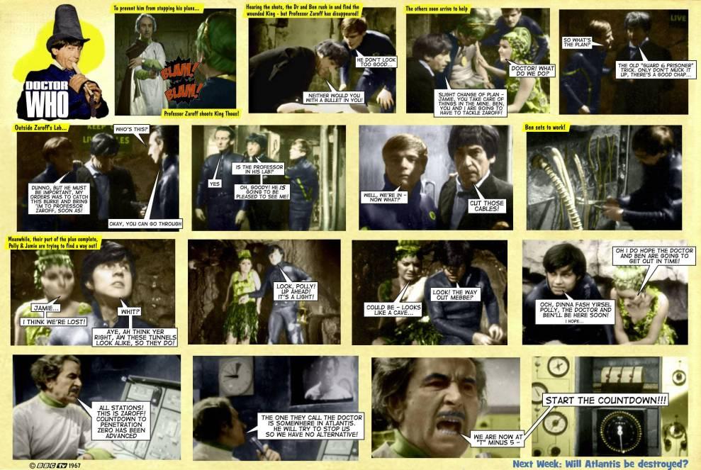 Dr Who Underwater Menace TV Comic 6