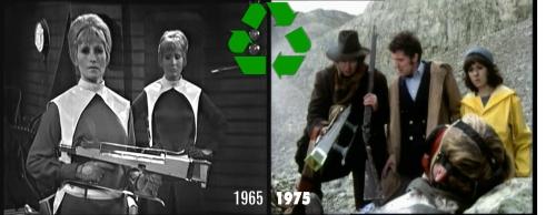 doctor who recycling genesis daleks galaxy 4 gun