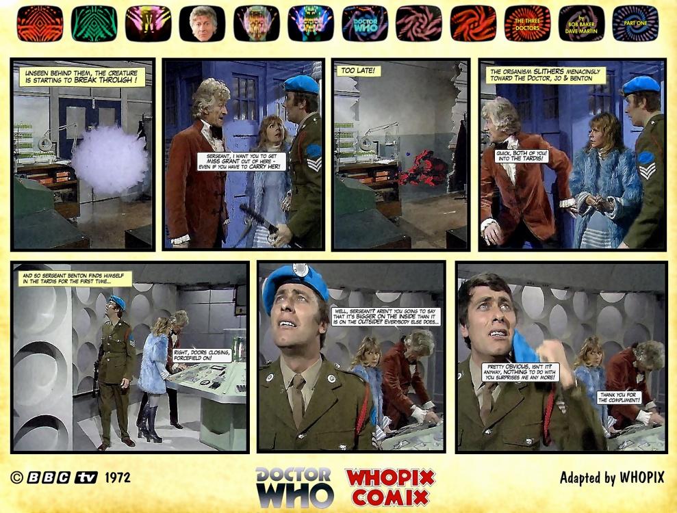 doctor who three doctors comic strip 1.05