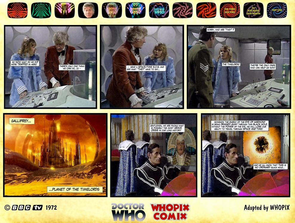 doctor who three doctors comic strip 1.06