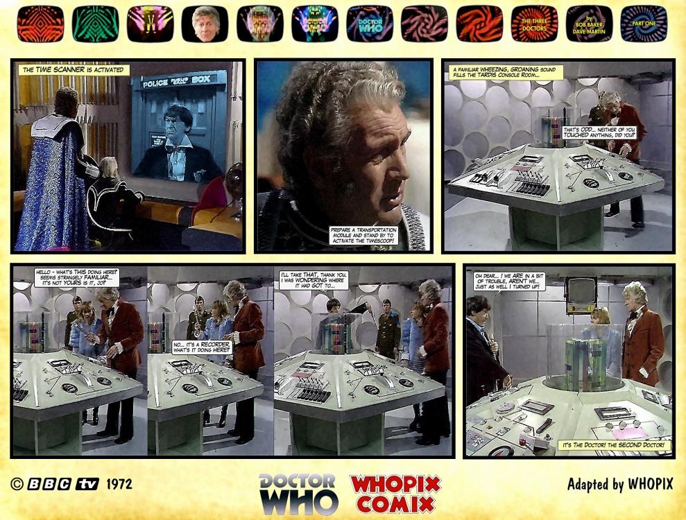 doctor who three doctors comic strip 1.09