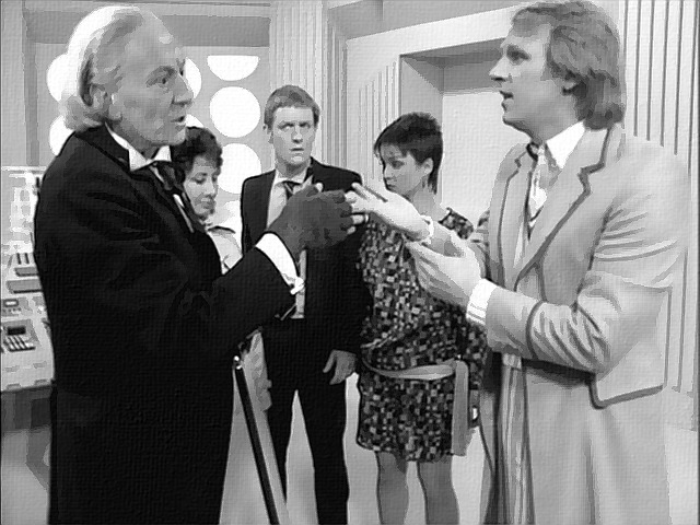 william hartnell peter davison five doctors