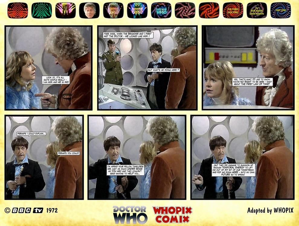 doctor who three doctors comic strip 1.12