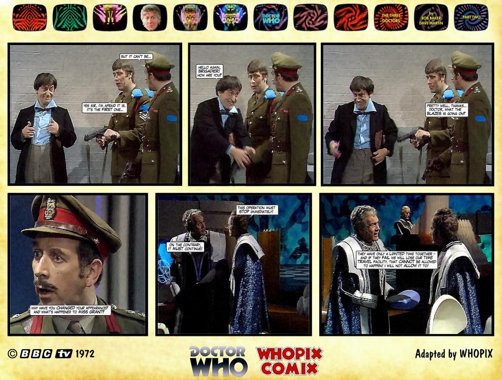 doctor who three doctors comic strip 2.06