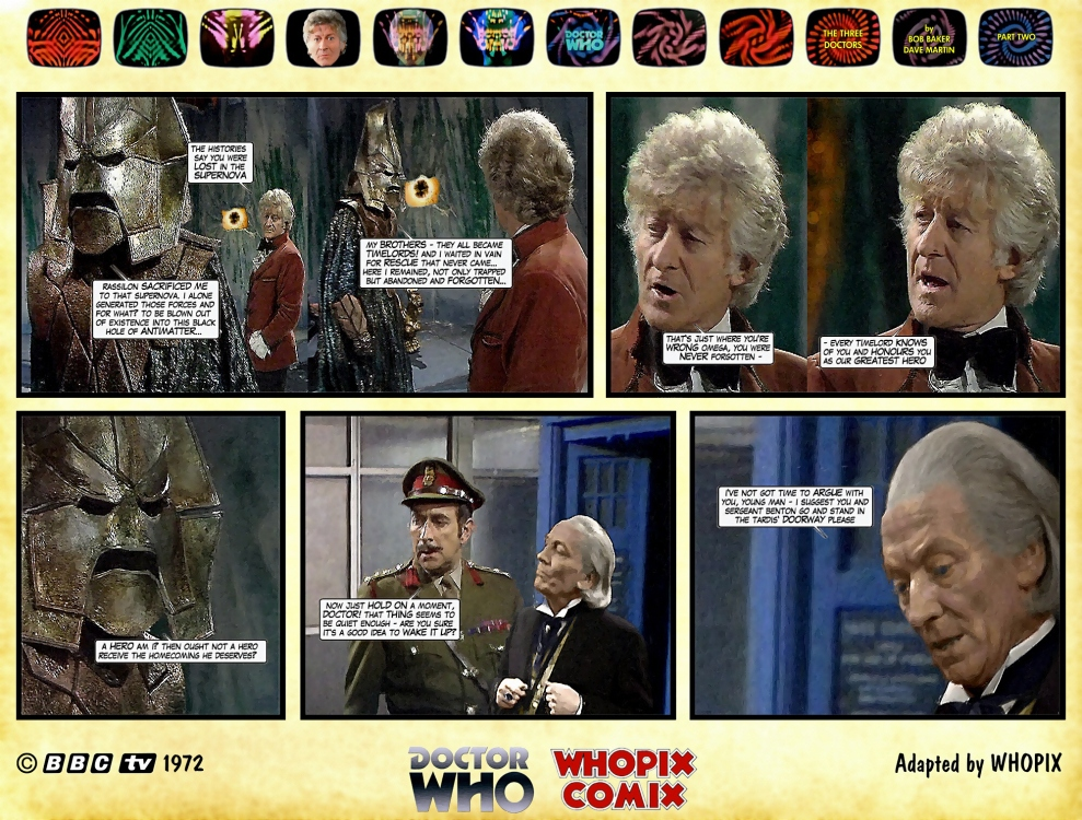 doctor who three doctors comic strip 2.18