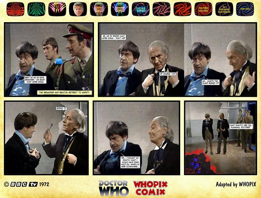 doctor who three doctors comic strip 2.19