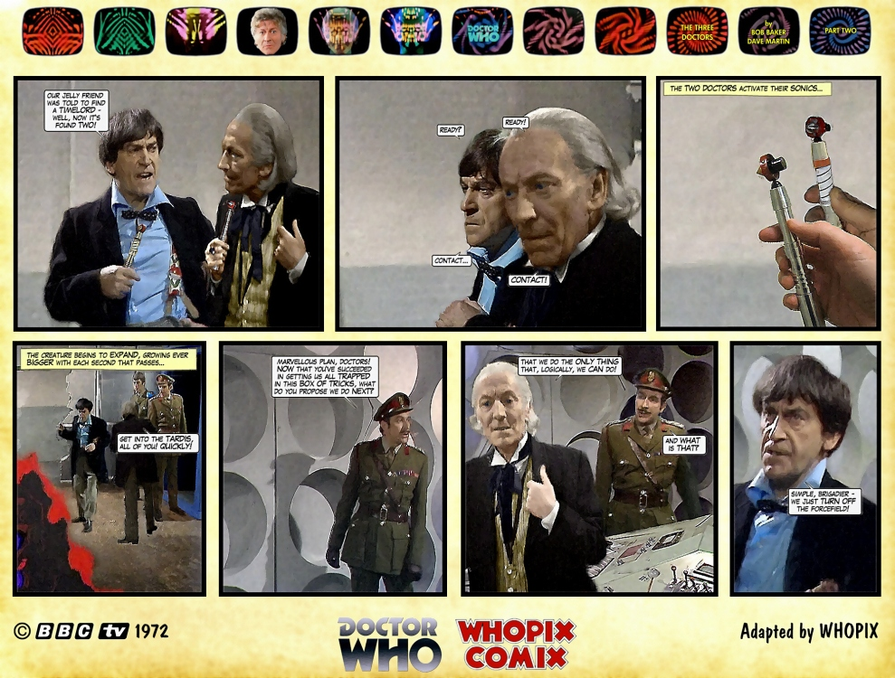 doctor who three doctors comic strip 2.20