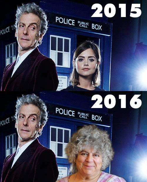 doctor who jenna coleman miriam margolyes
