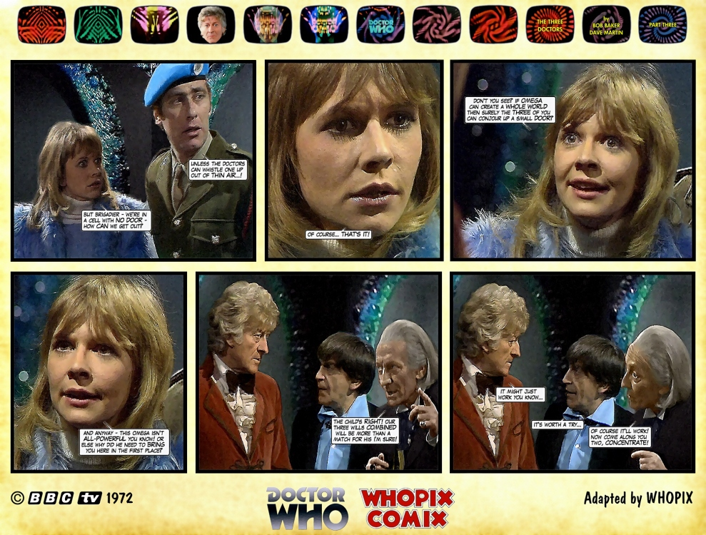 doctor who three doctors comic strip 3.13