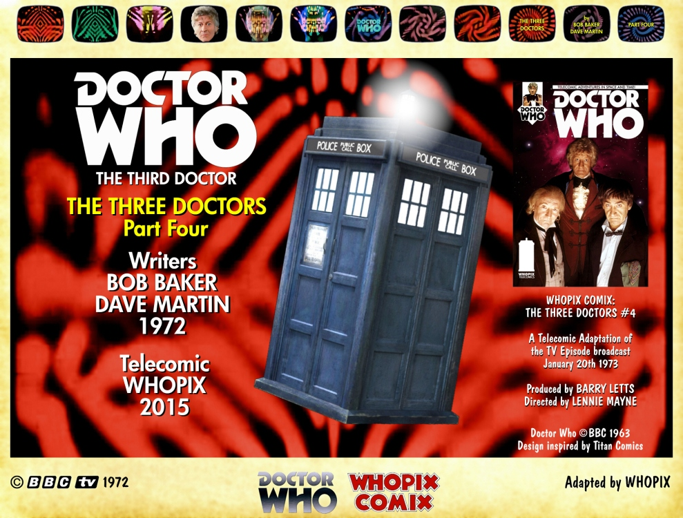 doctor who three doctors comic strip 4.00