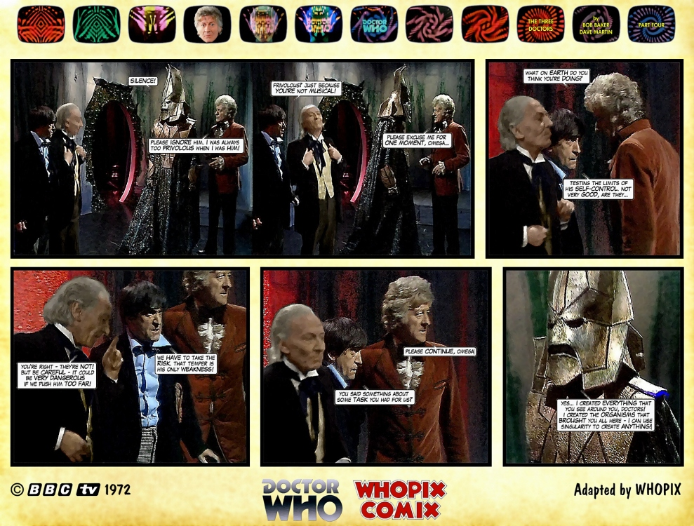 doctor who three doctors comic strip 4.03
