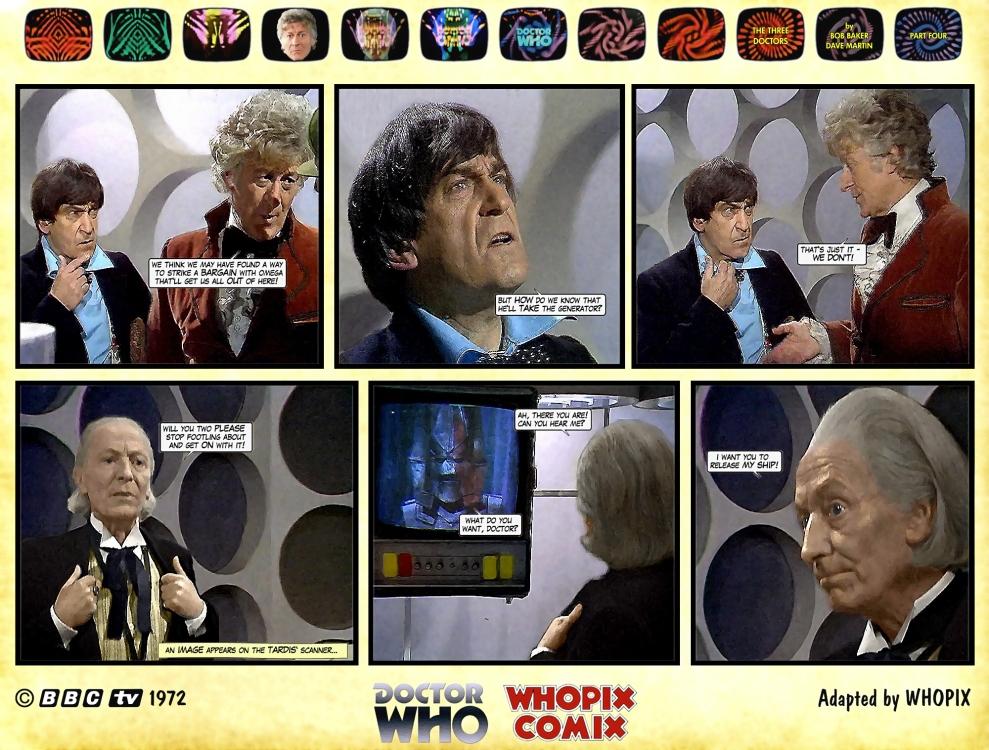 doctor who three doctors comic strip 4.12