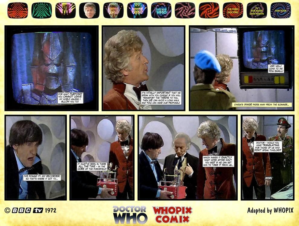 doctor who three doctors comic strip 4.13