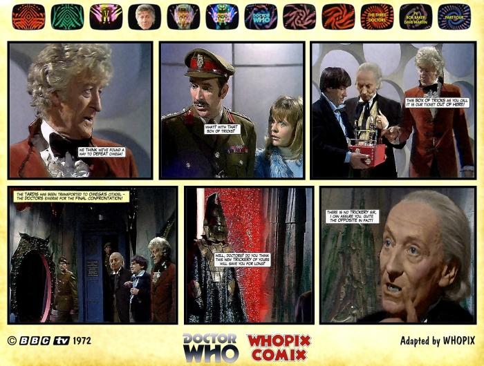 doctor who three doctors comic strip 4.14