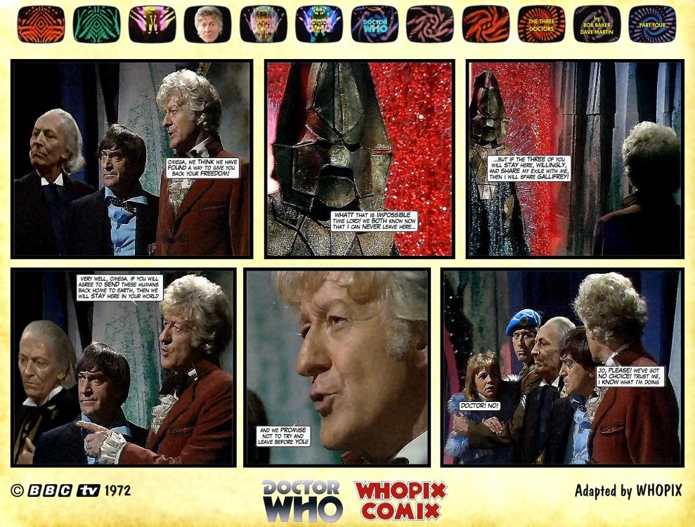 doctor who three doctors comic strip 4.15