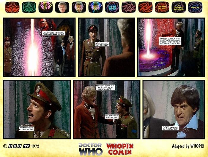 doctor who three doctors comic strip 4.16