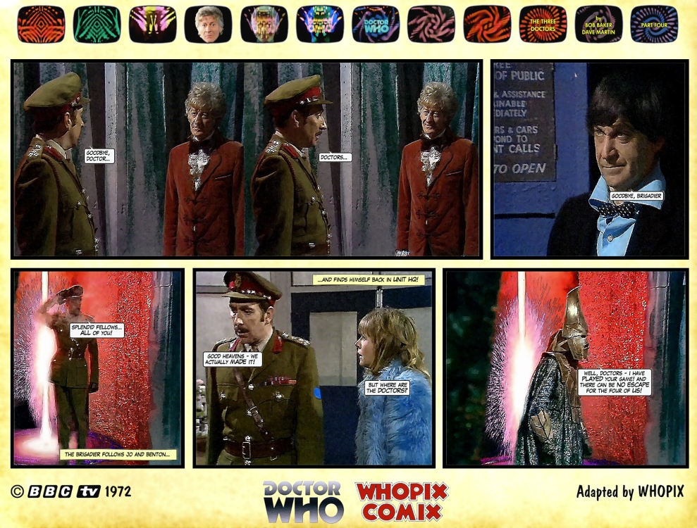 doctor who three doctors comic strip 4.18