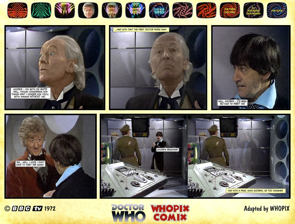doctor who three doctors comic strip 4.22