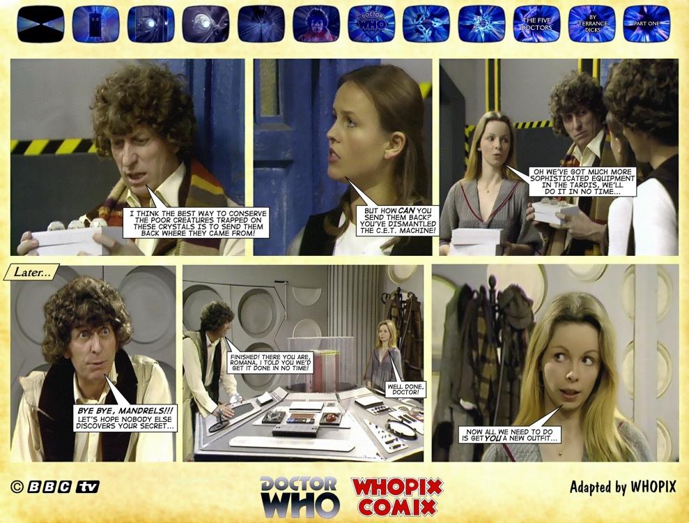 doctor who five doctors comic strip tom baker 1.04