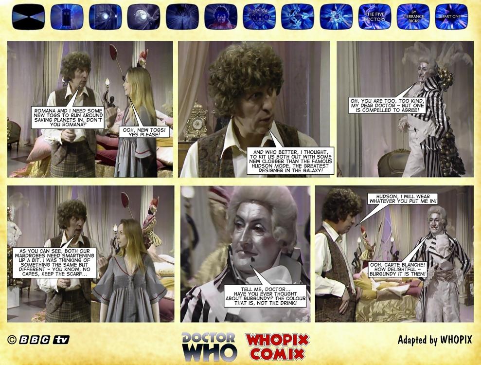 doctor who five doctors comic strip tom baker 1.06