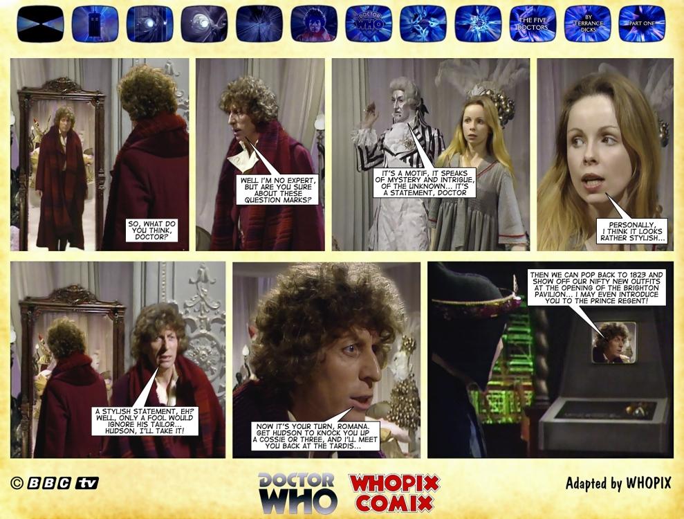 doctor who five doctors comic strip tom baker 1.07