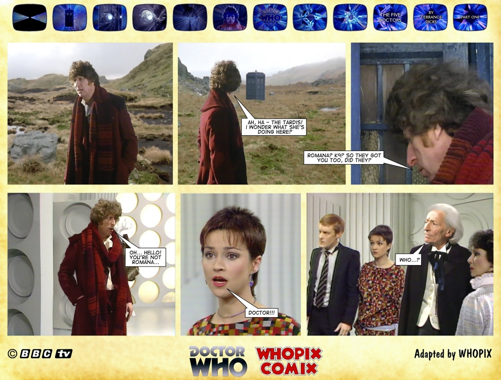 doctor who five doctors comic strip tom baker 1.09