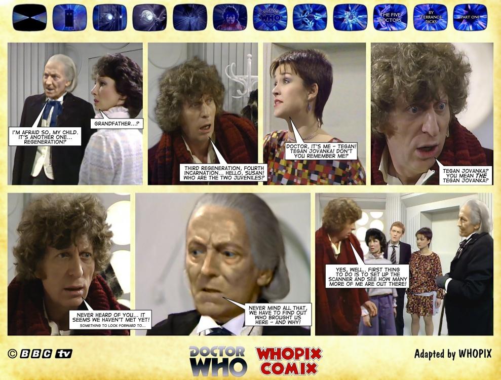 doctor who five doctors comic strip tom baker 1.10