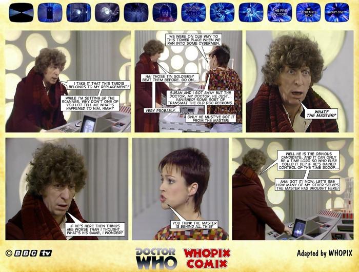 doctor who five doctors comic strip tom baker 1.11