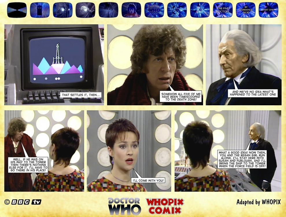 doctor who five doctors comic strip tom baker 1.12
