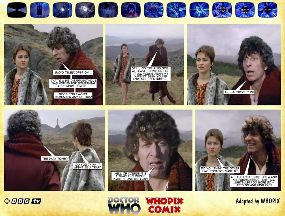 doctor who five doctors comic strip tom baker 1.14