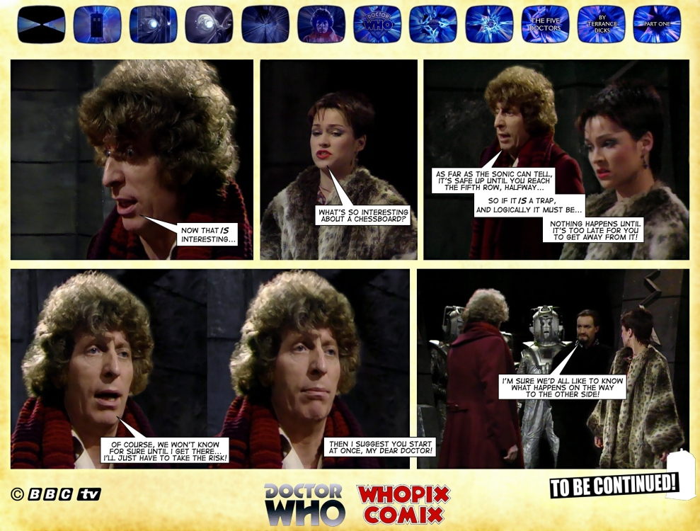 doctor who five doctors comic strip tom baker 1.16