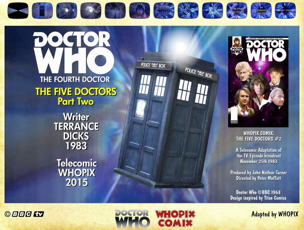 doctor who titan comics five doctors comic strip 2.00