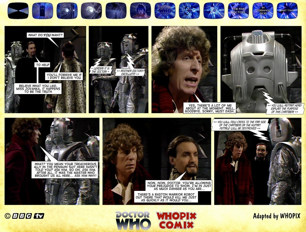 doctor who titan comics five doctors comic strip 2.01