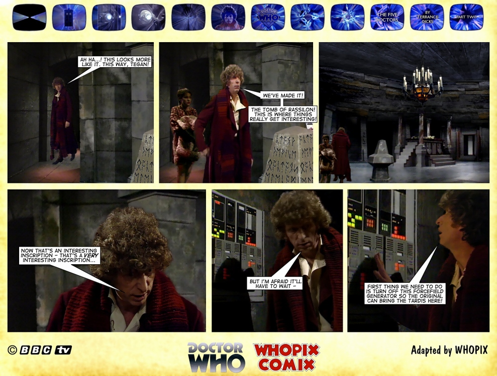 doctor who titan comics five doctors comic strip 2.08
