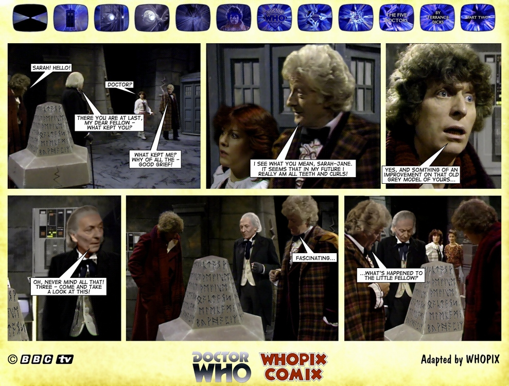 doctor who titan comics five doctors comic strip 2.10