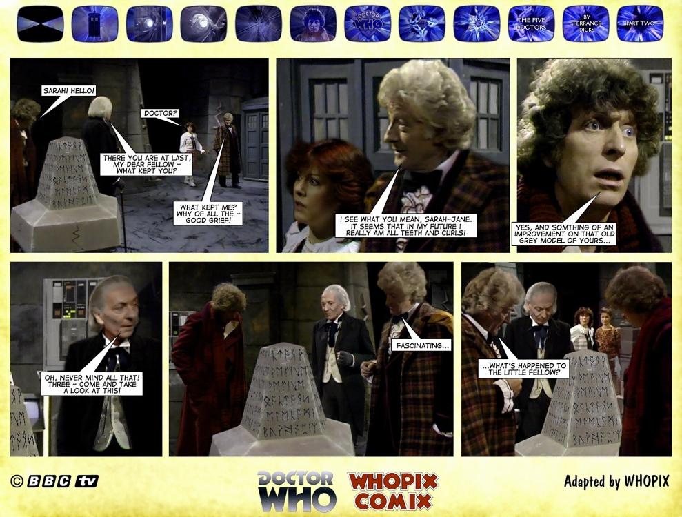 doctor who titan comics five doctors comic strip 2.10