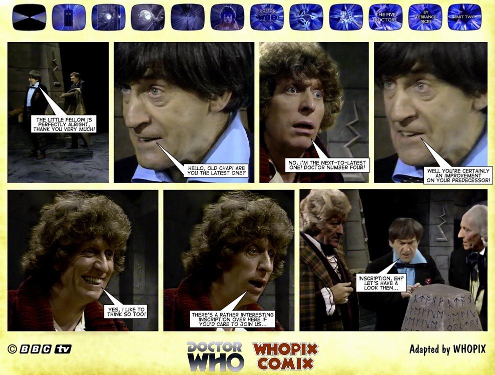 doctor who titan comics five doctors comic strip 2.11