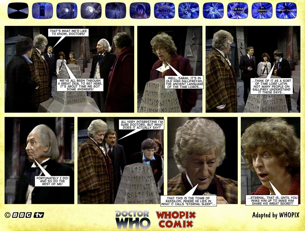 doctor who titan comics five doctors comic strip 2.17