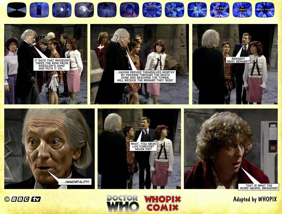 doctor who titan comics five doctors comic strip 2.19