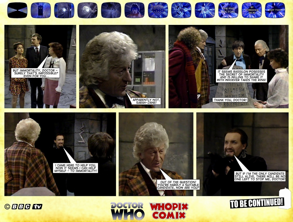 doctor who titan comics five doctors comic strip 2.20